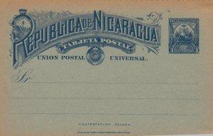 Republica NICARAGUA , Postal Card 1890s-1907