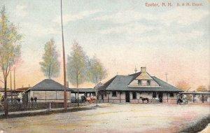 LPS08 Exeter New Hampshire B. & M. Depot Vintage Postcard