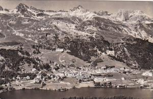 Switzerland St Moritz Dorf mit Corvigliabahn 1956 Photo