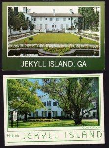 GA Lot 2 Jekyll Island Postcards Crane Cottage Georgia Carte Postale
