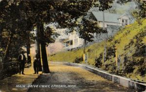 Ludington-Epworth MI Fellas Under Shade Tree~Dirt Rd by Nice Hillside Homes 1911