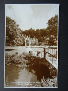Wiltshire CASTLE COMBE Manor House & Bridge - Old RP Postcard by E.A. Sweetman