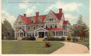 Long Island New York Brentwood Residence Antique Postcard K31086