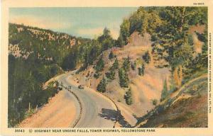 Highway near Undine Falls tower Highway Yellowstone Park WY