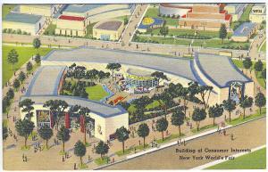 1939 New York World's Fair Building of Consumer Interests Postcard
