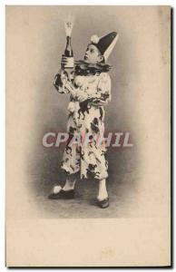 Postcard Old Child Clown