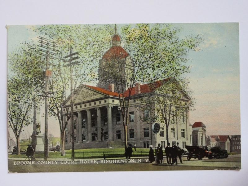 Broome County Court House in Binghamton New York 1900s Postcard