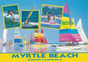Sailing, Surfing, Sailboarding, and jet skiing at Myrtle Beach, South Carolin...