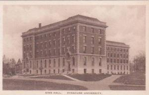 New York Syracuse Sims Hall Syracuse University Albertype