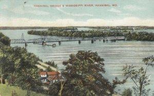HANNIBAL , Missouri, 1909 ; Bridge over Mississippi River