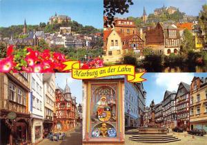 Marburg an der Lahn Gesamtansicht Kirche Church Statue Fountain Auto Cars