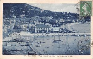 France Cannes - Vue prise du Mont Chevalier CPA 1924