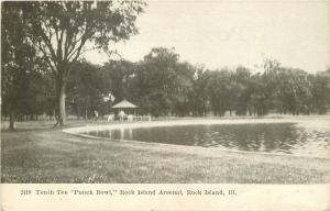 Rock Island Arsenal Illinos Golf Course~Tenth Tee Punch Bowl~Pavilion 1910
