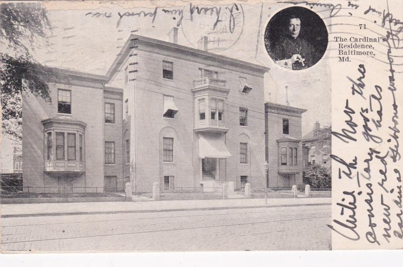 BALTIMORE, Maryland, PU-1911; The Cardinal's Residence