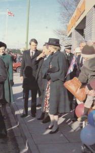 Princess Diana at York Yorkshire Security Guard in 1981 Royal Royalty Postcard
