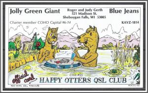 Wisconsin - QSL - Happy Otters Club - (MX-001)