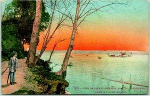 1910s SEATTLE Washington Postcard View on Lake Washington Mitchell Unused