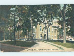Divided-Back COURTHOUSE SCENE Concord New Hampshire NH d3152