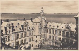 Kronborg Udsigt Over Oresund Til Sverrif Denmark Aerial Postcard