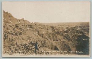 Badlands South Dakota~Majestic Grandeurs~Real Photo Postcard~RPPC
