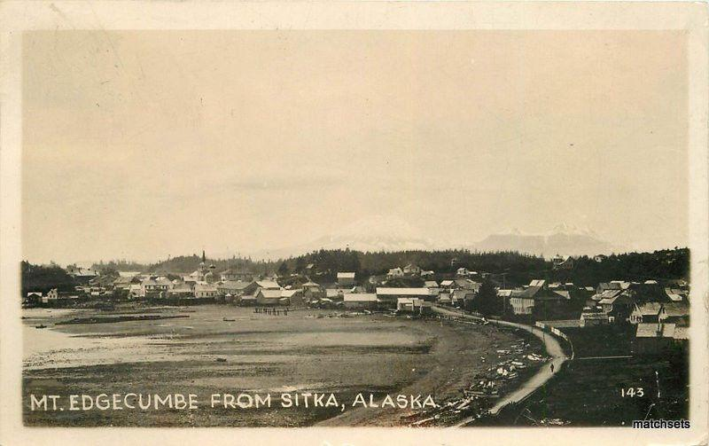 1931 Mt Edgecumbe SITKA ALASKA RPPC Real Photo postcard 5403