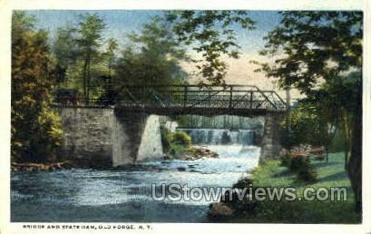 Bridge & State Dam Old Forge NY Unused