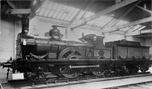 1950s York Railway Museum Fletcher UK Locomotive 2-4-0 RPPC real photo 8739