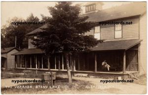 RPPC - The Veranda, Stony Lake Inn, Glenfield NY