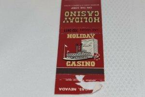 Holiday Casino Las Vegas Nevada Red 20 Strike Matchbook Cover