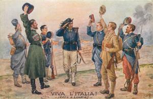 Italian bersagliere captain salute the Allies Grace C. Floyd text Viva Italia
