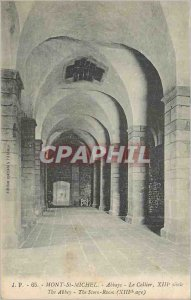 Old Postcard Mont Saint Michel abbey The XIII Century Cellar