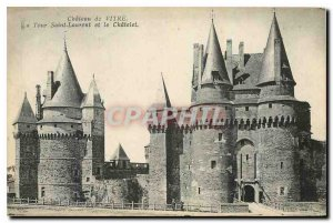 Postcard Old Castle Glass Tower Saint Laurent and Chatelet