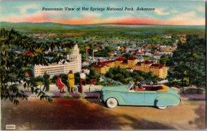 Panoramic View Hot Springs National Park AR Vintage Postcard Y16