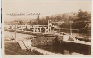 Washington WA Real Photo RPPC Postcard Old SEATTLE US Gov't CANAL LOCKS