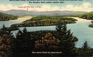 New York Adirondacks Lake Placid Panoramic View