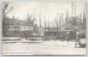 Geddes NY~Long Branch Amusement Park after Sept Tornado~Trolley Overturned~1912