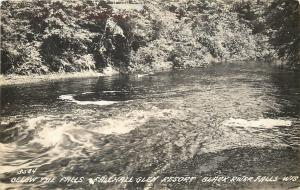 Black River Falls Wisconsin~Fallhall Glen Resort~RPPC c1927 Postcard
