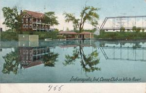 Canoe Club on White River - Indianapolis IN, Indiana - pm 1907 - UDB