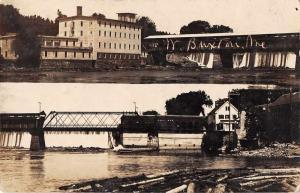 Buxton Maine Covered Bridge Dam  Real Photo Vintage Postcard JA4741534