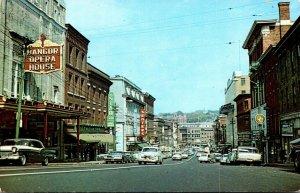 Maine Bangor Main Street Business District Looking East