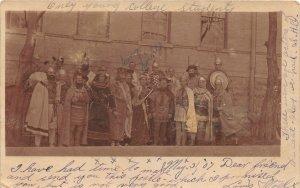 G28/ Prairie Du Chien Wisconsin RPPC Postcard 1907 College Play Cast