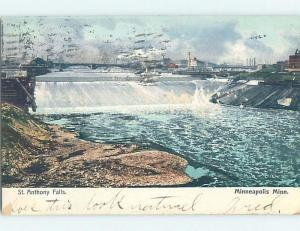 Pre-1907 SAINT ANTHONY FALLS Minneapolis Minnesota MN A1258