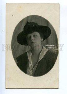 234326 ORLOVA Russian OPERETTA Dancer Singer in Hat PHOTO old