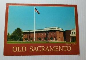 Vintage Postcard Old Sacramento History Center 1995 California museum unposted
