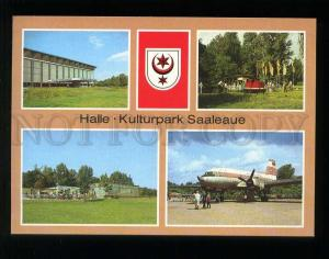 210078 GERMANY HALLE Park of Culture Children's Railways old postcard