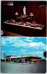 Tinley Park, Illinois Postcard JARDINE'S RESTAURANT Buffet Rte 6 Roadside c1960s