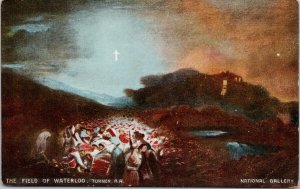 The Field of Waterloo Turner R.A. National Gallery Misch & Co. Postcard F31