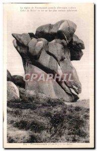 Old Postcard The region Ploumanac pm posside of strange rocks