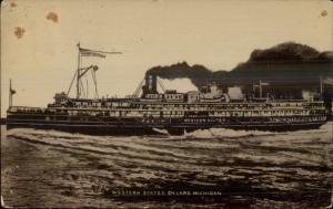 Steamer Steamship Western States Tekonsha MI Cancel Message From Passenger