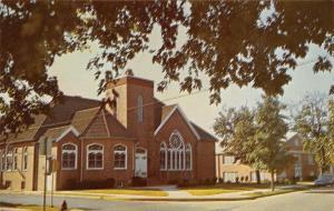 Seaford Delaware~St John's Methodist Church~Pine & Poplar~1950s Postcard